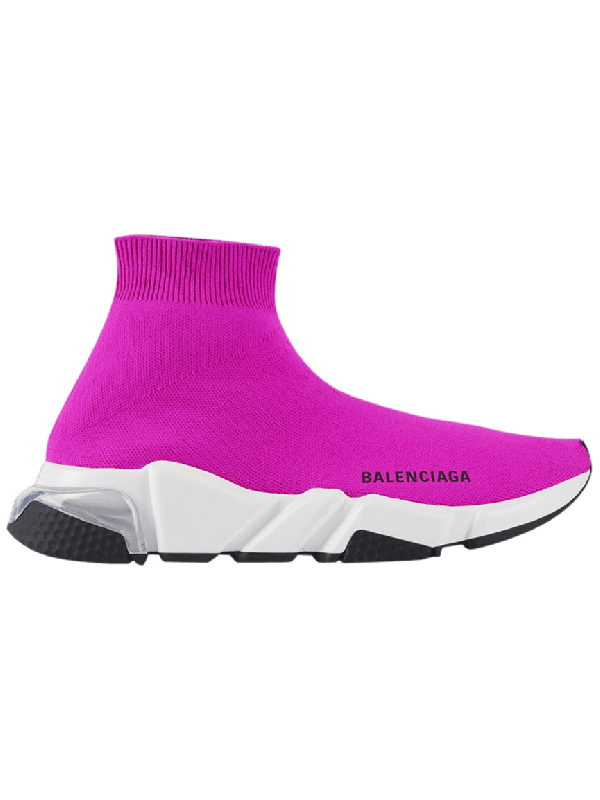 UA Balenciaga Speed Clear Sole Fuchsia
