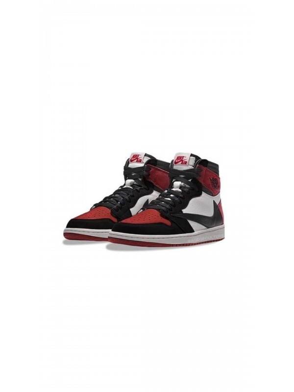 UA AIR JORDAN 1 HIGH RETRO RED BLACK