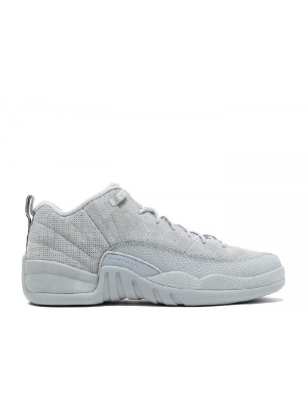 UA Air Jordan 12 Retro Low BG(GS) Wolf Grey Armory Navy