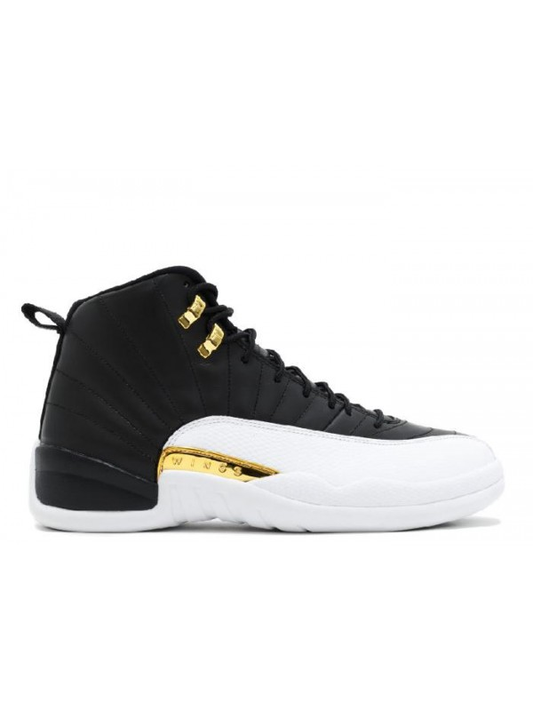 UA Air Jordan 12 Retro Wings Black Metallic Gold White