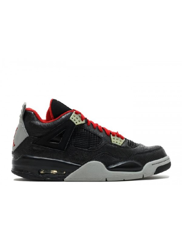 UA Air Jordan 4 Retro Rare Air Laser Black Varsity Red Medium Grey