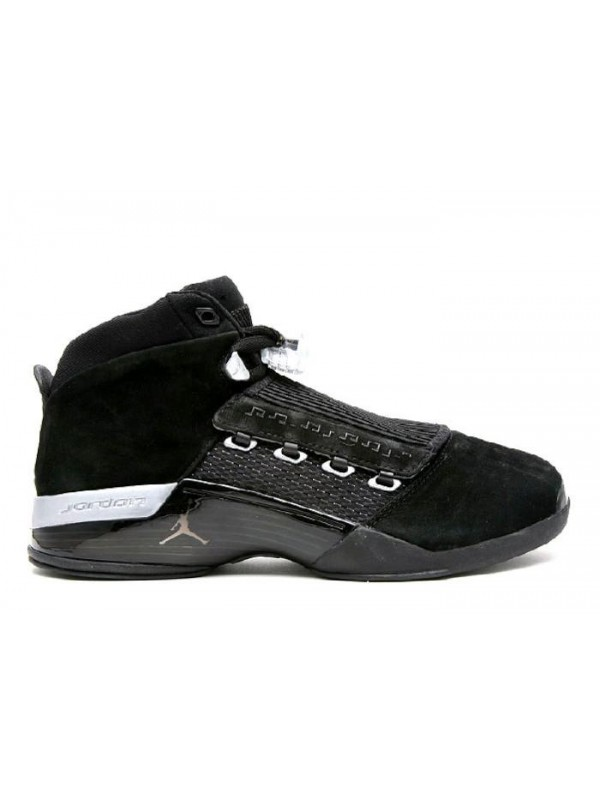 UA Air Jordan 17 Retro Countdown Pack Black Metallic Silver
