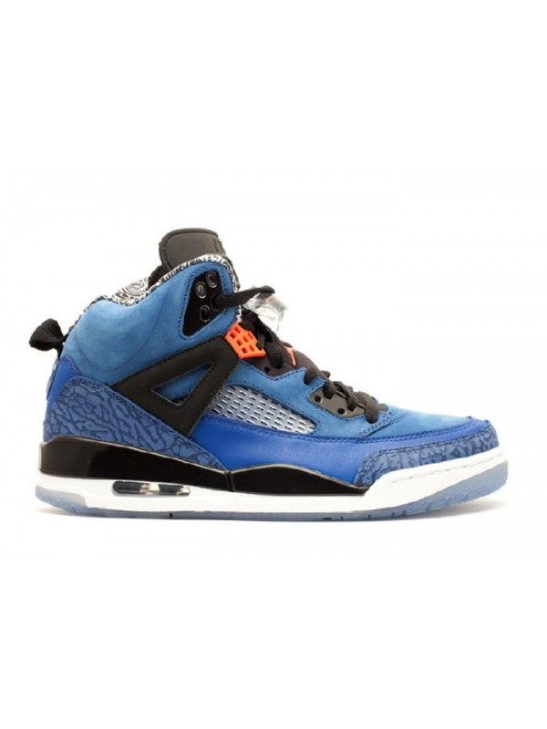 UA  Air Jordan Spiz'lke New York Knicks Blue Ribbon ORnge Flash Black White