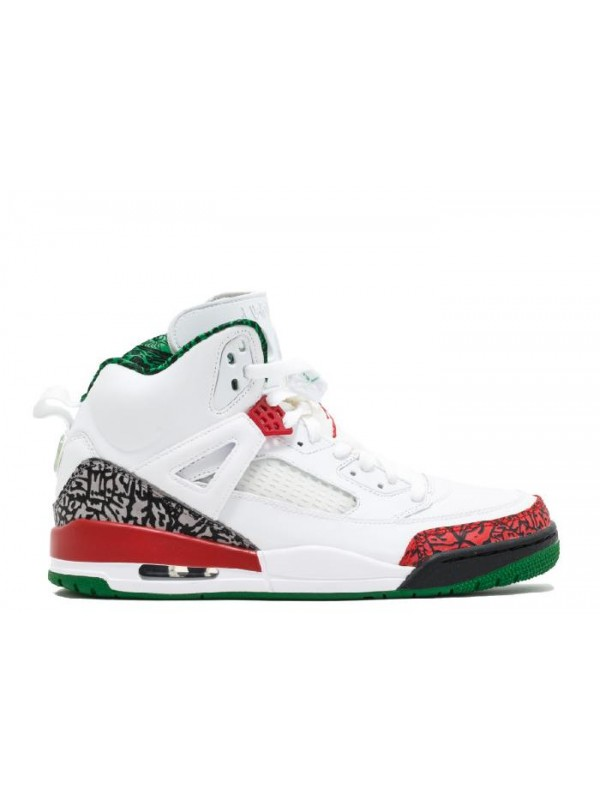 UA Air Jordan Spiz'lke White Varsity Red Grey