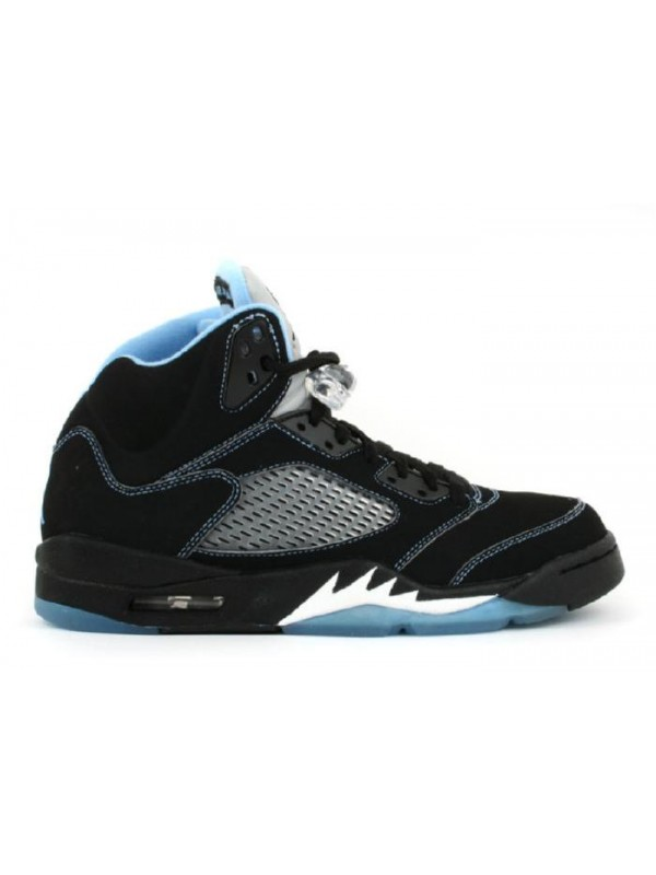UA Air Jordan 5 Retro Ls Black University Blue White