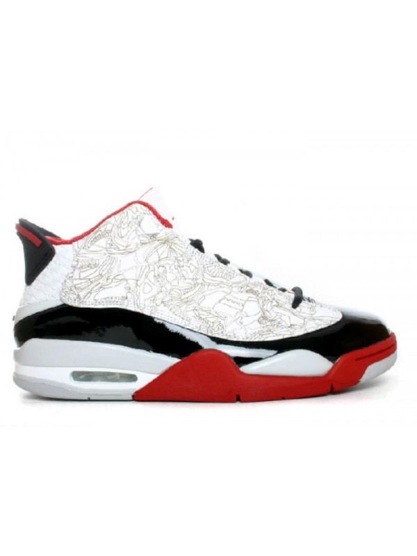 UA Air Jordan Dub-Zero White Black V Red Neutral Grey