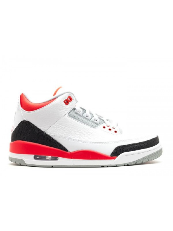 UA Air Jordan 3 Retro 2013 Release White Fire Red Silver Black