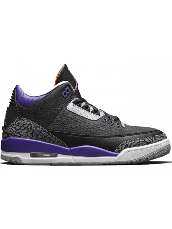 UA Air Jordan 3 Retro Black Court Purple