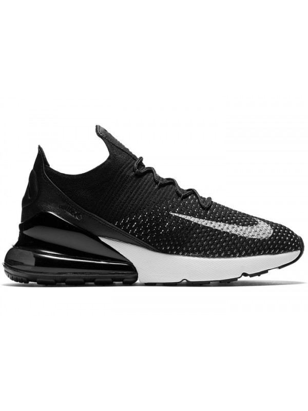 UA Nike Air Max 270 Flyknit Black White