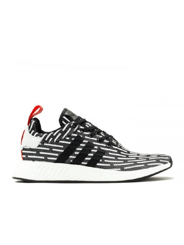 NMD R2 PK Black White Red