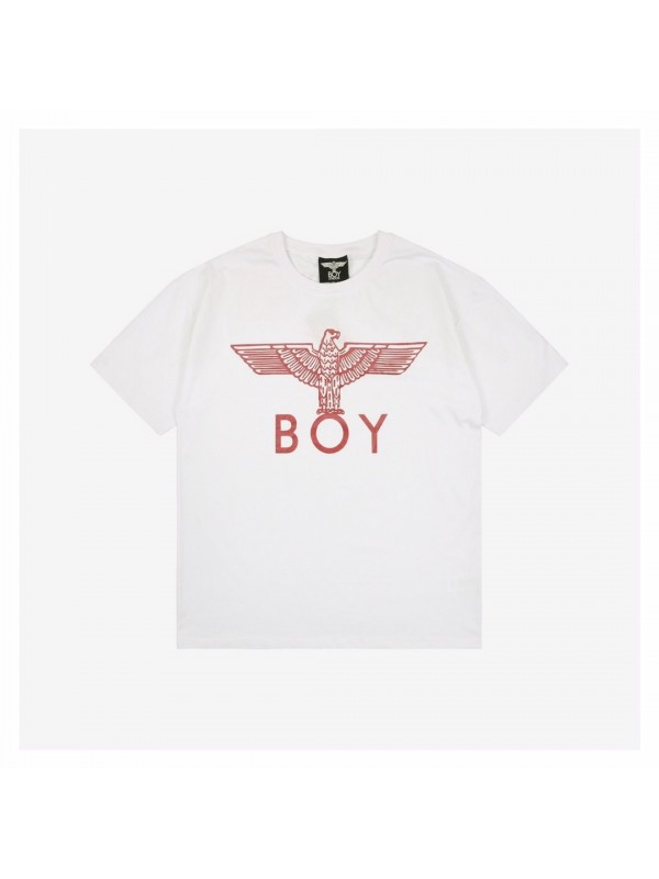 UA Boy Eagle T-Shirt White Pink
