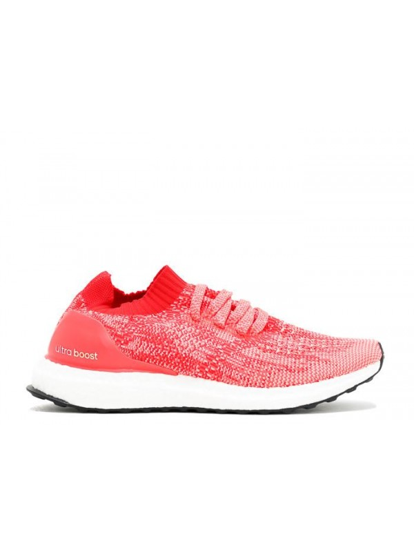 UA Ultra Boost Uncaged W Ray Red Shock Red Ray Pink