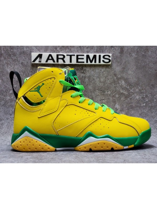 UA AIR JORDAN 7 RETRO Yellow Green