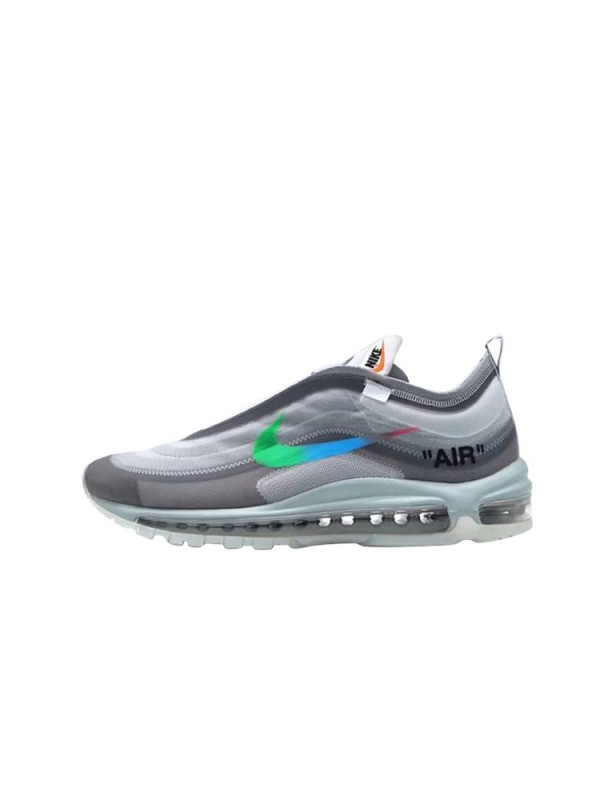 UA Off-White X Air Max 97 Grey Blue Sneakers Online