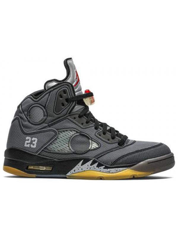 UA Air Jordan 5 Retro Off White Black