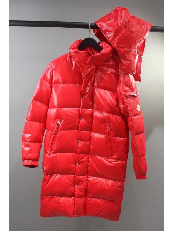 UA Moncler Down Women's Long Down Jacket Red