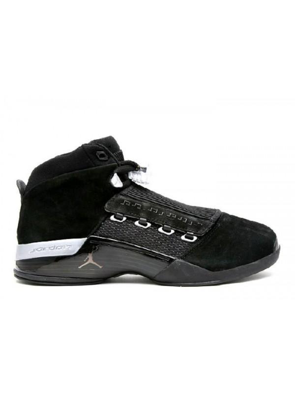 UA Air Jordan 17 Retro Countdown Pack Black Metallic Silver