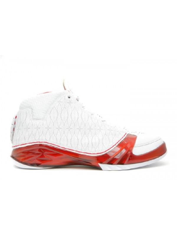 UA Air Jordan 23 White Varsity Red Metallic Silver
