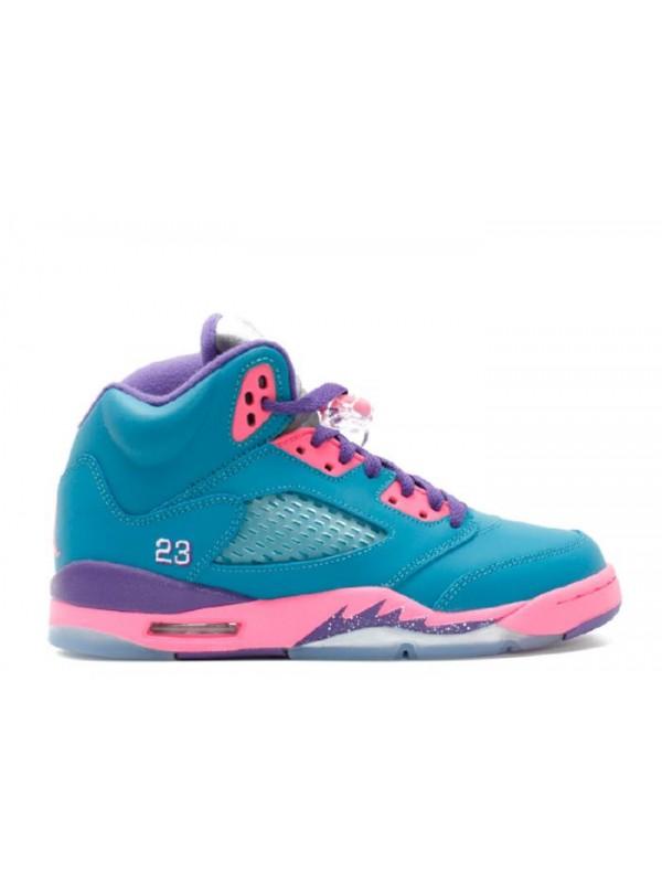 UA Girls Air Jordan 5 Retro (Gs) Tropical Teal