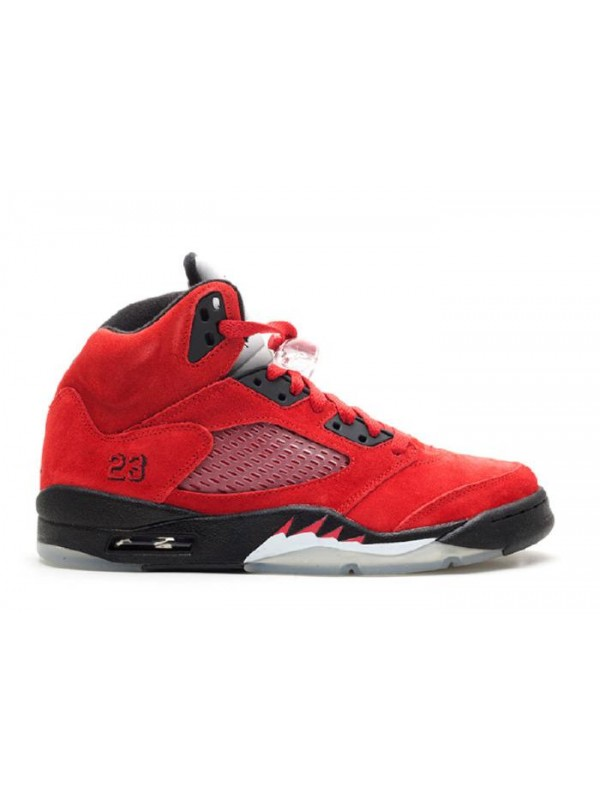 UA Air Jordan 5 Retro Raging Bull Red Suede