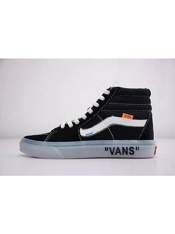 UA OFF white x Vans VANS SK8-HI Classic Canvas White Black Ice Blue Mid Online