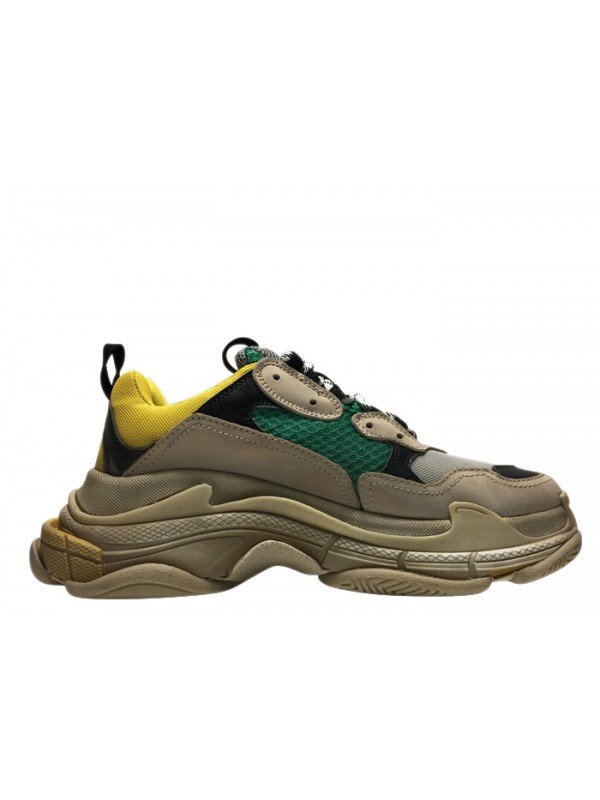 UA Balenciaga Triple S Beige Green Yellow