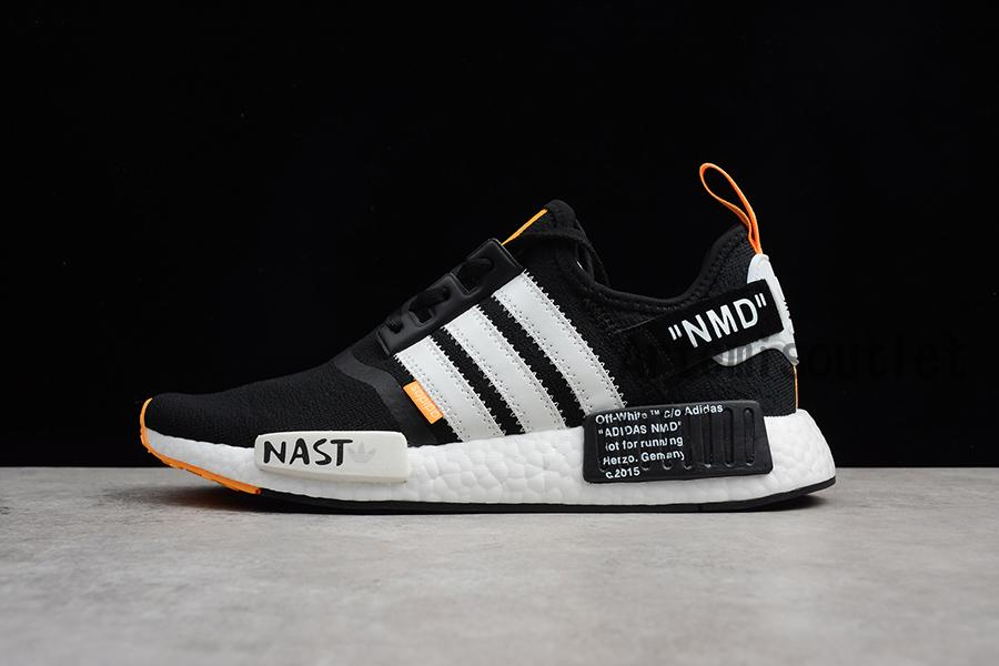 8e262094c26c9 Best Quality Cheap Price UA NMD X Off White NAST Black White Shoes ...