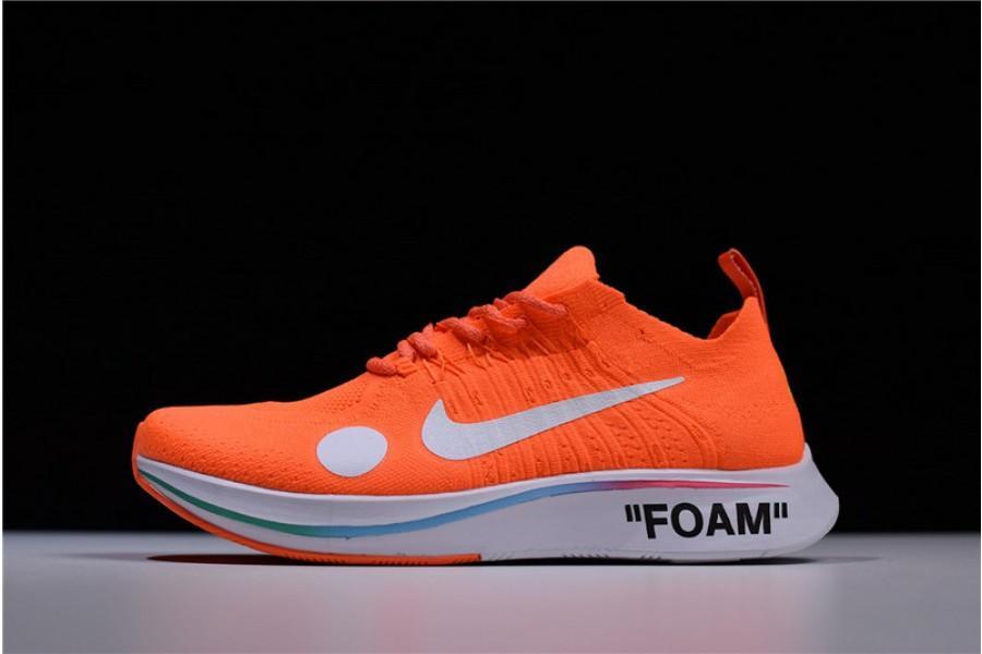 5e6345804b00a Best UA OFF WHITE Nike Zoom Fly Mercurial FK OW Orange Cheap Sale ...